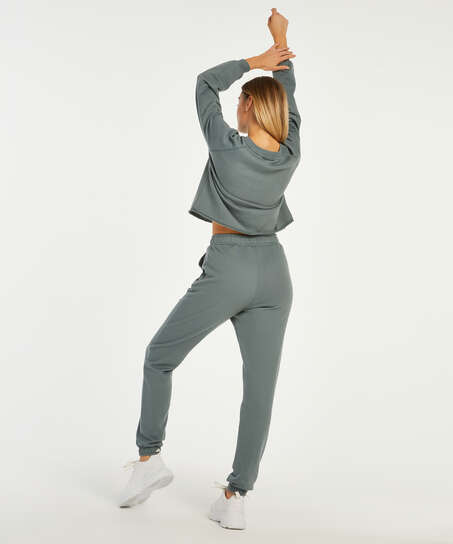 Pantalón para correr Sweat French, Verde