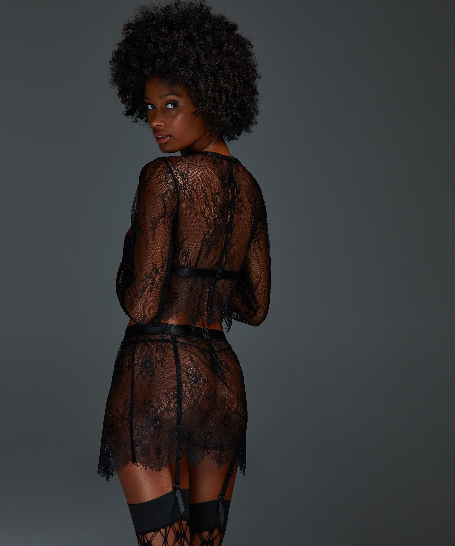 Falda de encaje, Negro, main