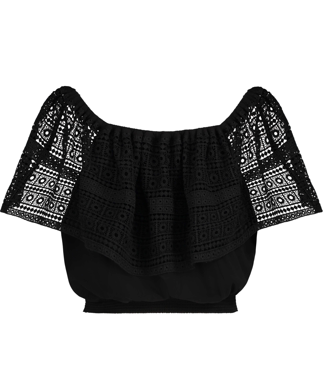 Top Crochet, Negro, main