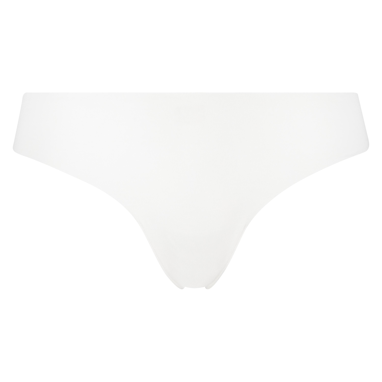 Tanga de algodón Invisible, Blanco, main