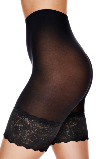 Pantalones cortos de encaje Anti Chafing, Negro
