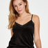 Camiseta Velours Lace, Negro