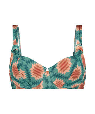 Top de bikini con aros preformado Paramaribo I AM Danielle, Blanco