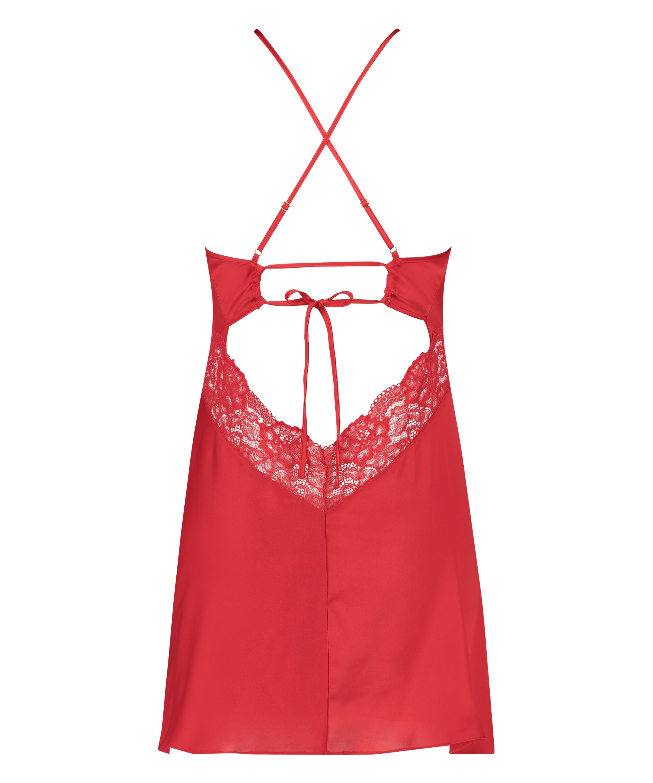 Vestido lencero Nina, Rojo, main