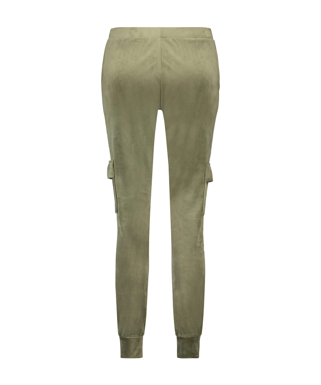 Pantalón para correr de terciopelo Cargo, Verde, main