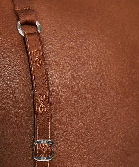 Sujetador para camiseta básico, marrón