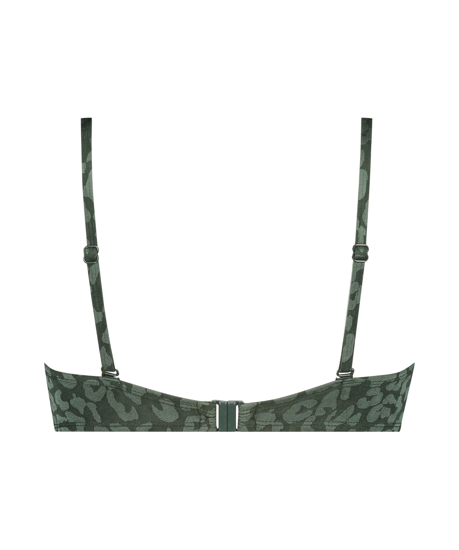 Top de bikini push-up con aros y preformado Copa A - E, Verde, main