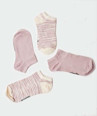 2 pares de calcetines tobilleros deportivos Cotton , Morado