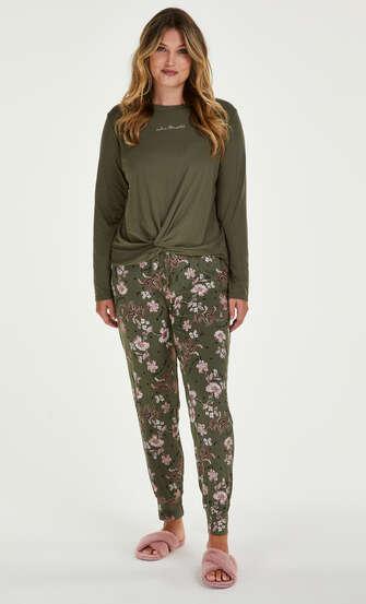 Pantalón de pijama Jersey, Verde