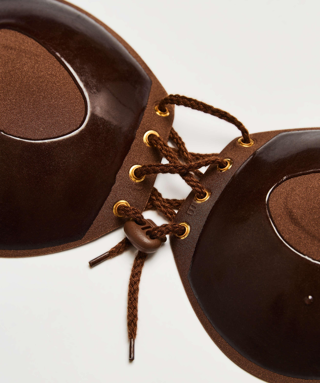 Sujetador push-up adhesivo, marrón, main