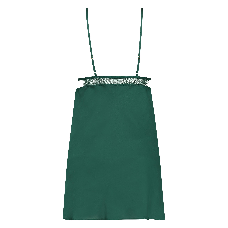 Vestido combinación satinado Holly, Verde, main
