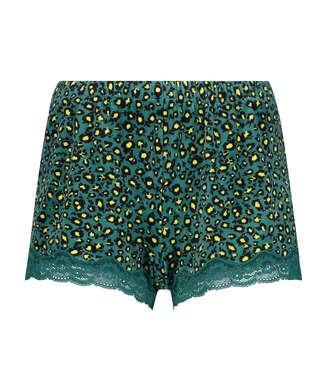Pantalón corto de terciopelo y encaje Daisy, Gris
