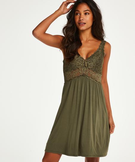 Vestido lencero Nora Lace, Verde