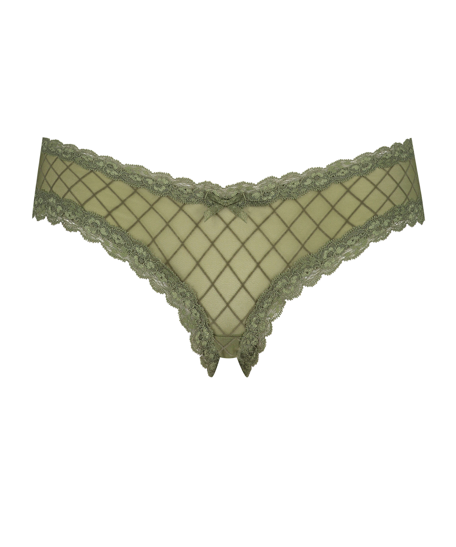 Brasileña en forma de V burn-out mesh, Verde, main