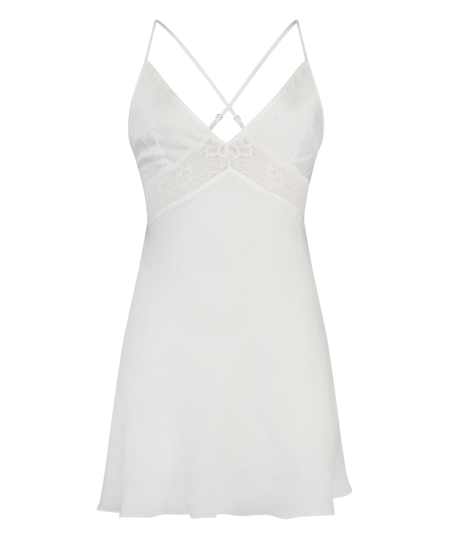 Vestido lencero Nina, Blanco, main
