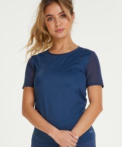 Camiseta deportiva de espalda descubierta de HKMX, Azul