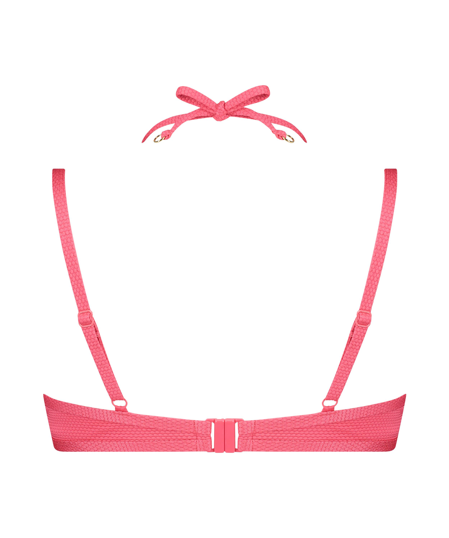 Top de bikini con aros preformado Ruffle Dreams, Rosa, main