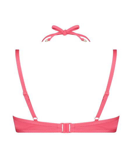 Top de bikini con aros preformado Ruffle Dreams, Rosa