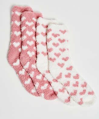 2 pares de calcetines, Rosa