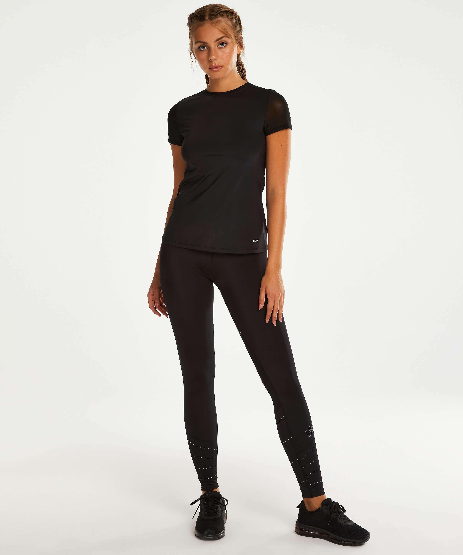 Camiseta deportiva de espalda descubierta de HKMX, Negro, main