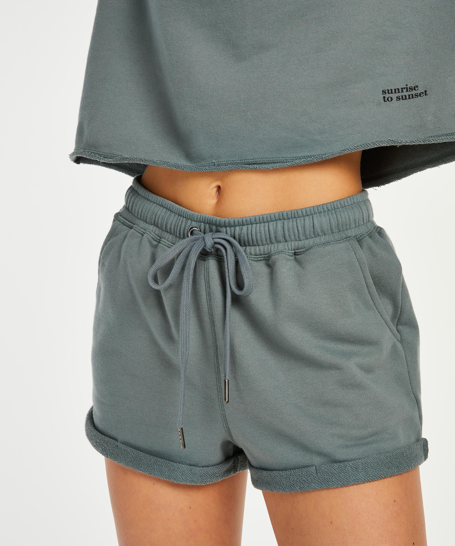 Shorts Sweat French, Verde, main