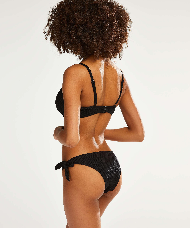 Pantaloncito de bikini atrevido Scallop Goddess, Negro, main