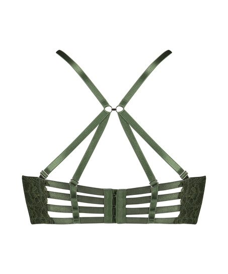 Sujetador longline de aros preformado Ollie, Verde