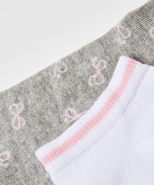 2 pares de calcetines tobilleros deportivos Cotton , Gris, main