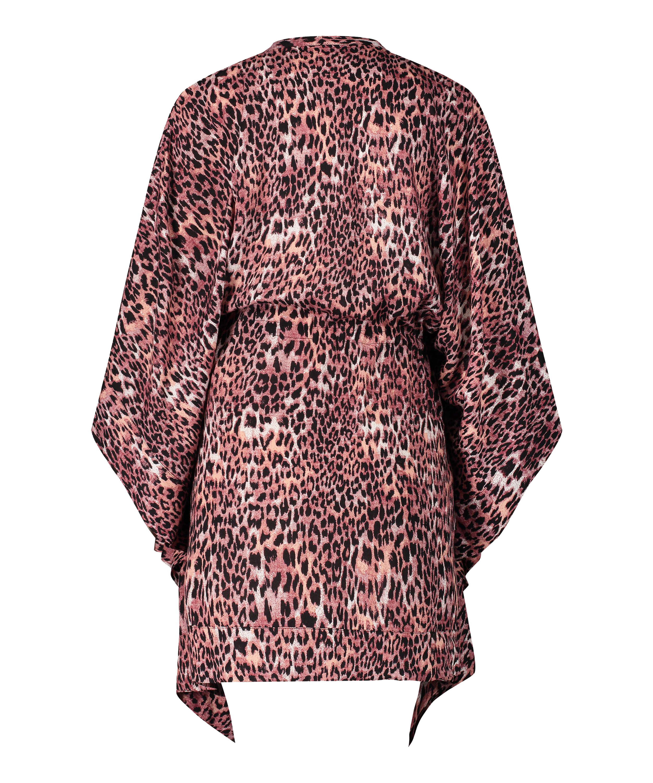 Túnica Leopard Rose, marrón, main