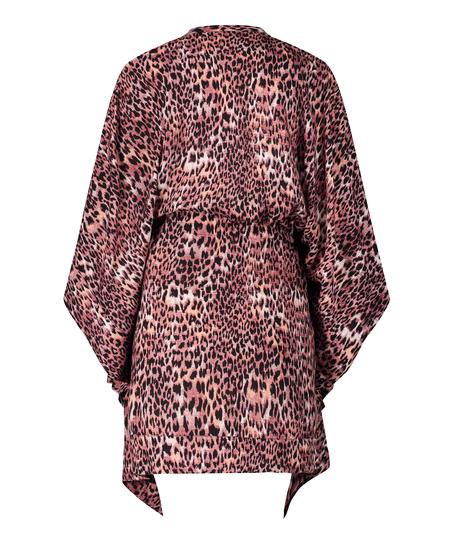 Túnica Leopard Rose, marrón