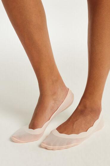 Hunkemöller 2 pares de calcetines invisibles lasercut Rosa