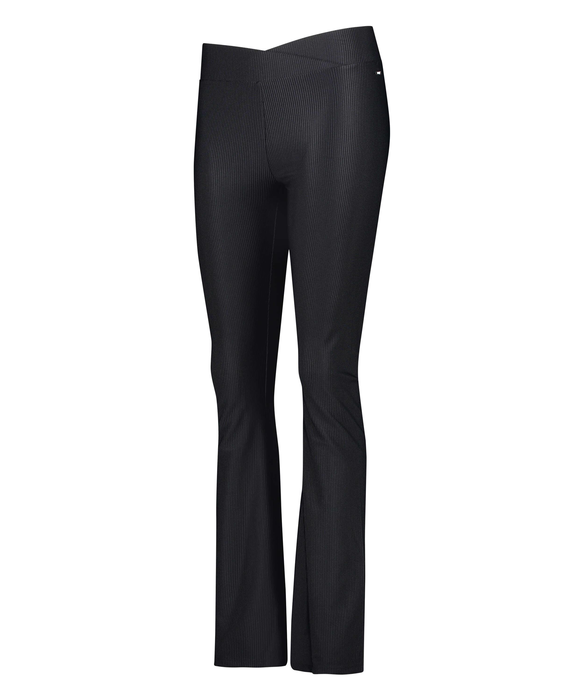 Leggings deportivos de cintura alta HKMX Flared, Negro, main