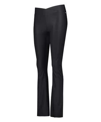 Leggings deportivos de cintura alta HKMX Flared, Negro