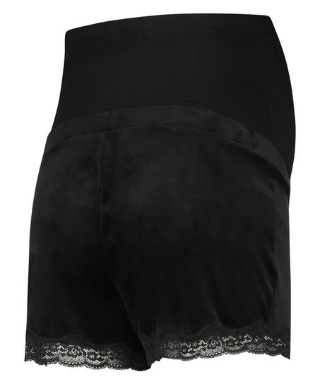 Pantalón corto premamá de terciopelo, Negro