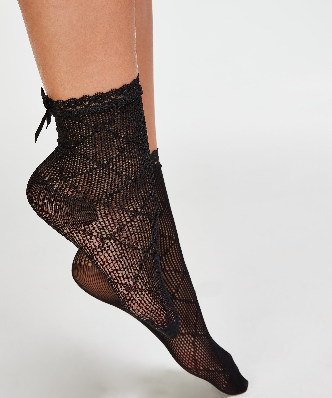 1 par de calcetines Mesh Rebecca Mir, Negro, main