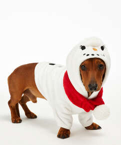 Mono forro polar para perro, Blanco
