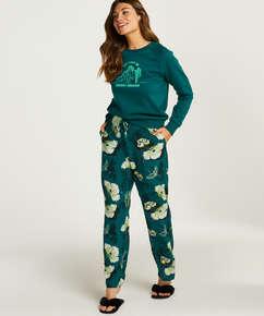 Pantalón de pijama tejido, Gris