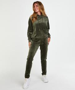 Pantalón para correr de terciopelo, Verde