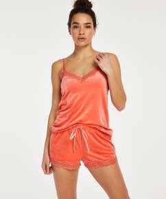 Camiseta Velours Lace, Naranja