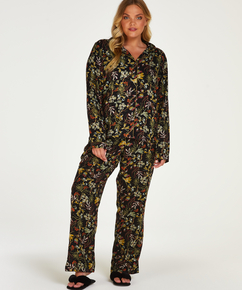Pantalón de pijama tejido, Negro