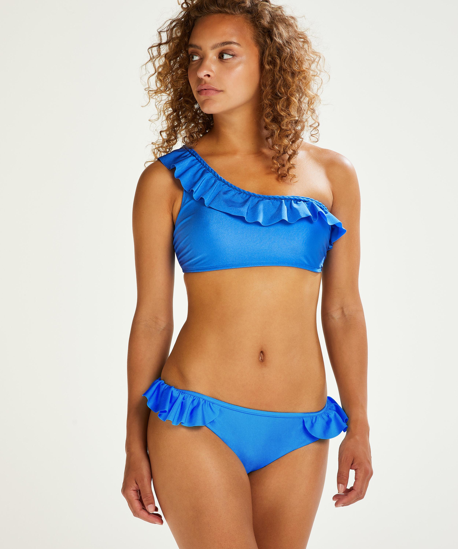 Croptop de bikini Suze, Azul, main