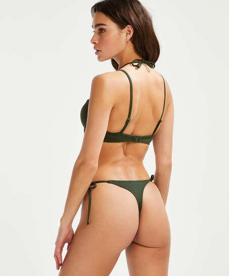 Top de bikini con aros y preformado Luxe, Verde