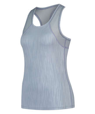 HKMX camiseta de deporte sin mangas, Azul