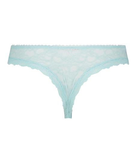 Brasileña mini de cintura alta Riley, Azul