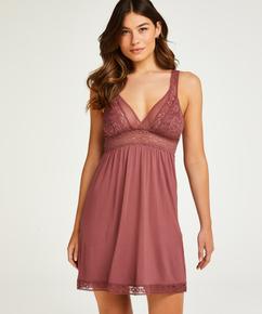 Vestido lencero Jersey Grafic Lace, Rosa