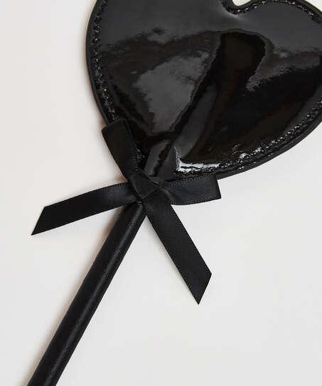 Látigo de cuero Priva, Negro