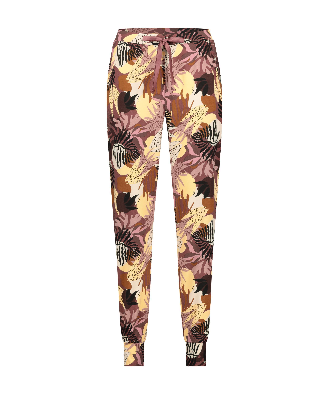 Pantalón de pijama Petite Abstract Leaf, Rosa, main