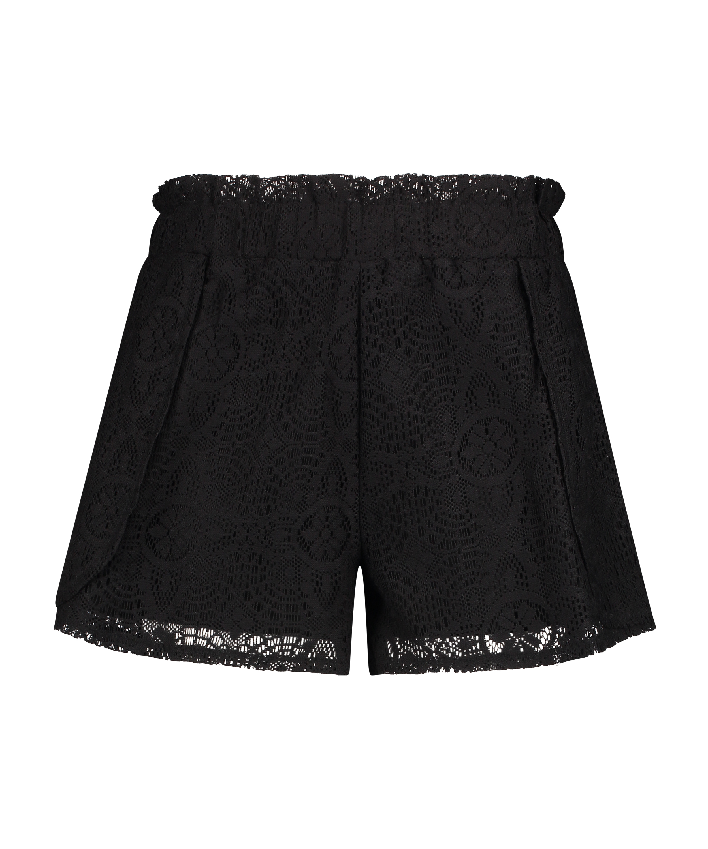 Shorts de encaje, Negro, main