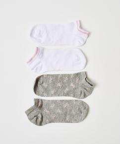 2 pares de calcetines tobilleros deportivos Cotton , Gris