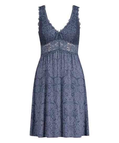 Vestido lencero Nora, Azul